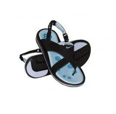 Womens Nike Beachy Thong Sandals Black / Chambray Blue-Flash