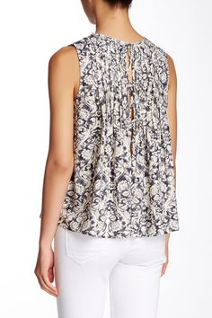 Floral Pleated Tank by Love Stitch on @HauteLook