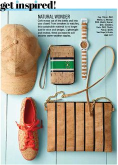 Get inspired by the premium accessories made of cork skin... #Pelcor #Cork #Accessories