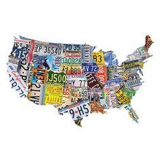 License Plates 1000 Piece Jigsaw Puzzle $18.95