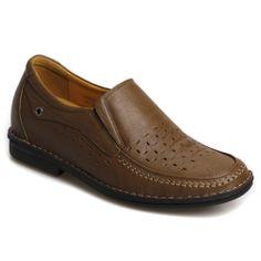2013 Hot Sale Cheap Khaki Calfskin Leather Sandal taller shoes