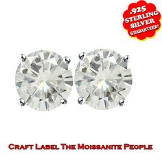 1/2 Ct Brilliant Cut 10K Gold Solitaire Stud Earrings. Starting at $89