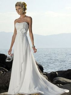 Gorgeous White Empire Waist Sweetheart Wedding Dresses Vintage Style