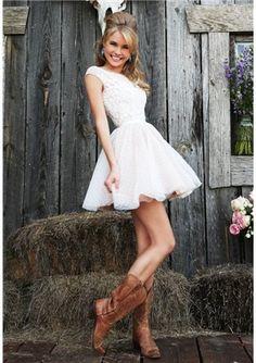 2015 Cute A-Line/Princess Bateau Short/Mini Length Prom/Homecoming Dresses with Applique