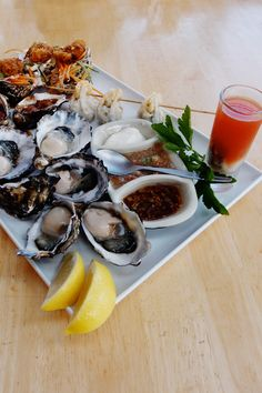 Bruny Island #oysters #getshucked #tasmania / superb eating and looking.