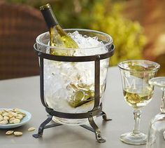 """I love this Industry Wine Cooler because it's cute and perfect for fabulous dinner parties. This is also a gift you can send in advance and let them know """"A dinner party is just not a dinner party without a chilled glass of bubbly!"""" #Entertaining #Cheers"""