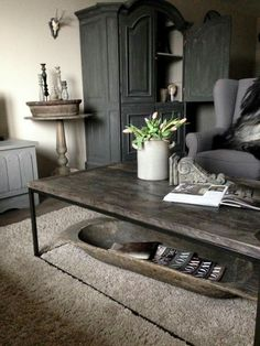 Shabby Chic Home Farmhouse Style Coffee Tables Ideas Apartment Living, Living Room, Interior Decorating, Interior Design, Shabby Chic Homes, Home Decor Kitchen, Rustic Interiors, Beautiful Interiors, Farmhouse Style