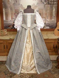 Items similar to Elizabethan Renaissance Court Gown, Wedding Dress on Etsy Renaissance Mode, Renaissance Fair Costume, Renaissance Clothing, Renaissance Fashion, Elizabethan Dress, Elizabethan Fashion, Tudor Fashion, Medieval Gown, Victorian Dresses