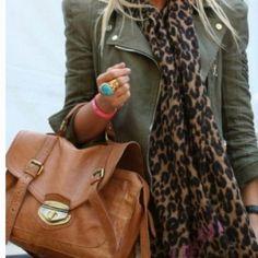 olive + brown + leopard