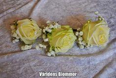 Corsage Bröllops arrangemang och allt som hör till ett Bröllop Världens Blommor Norra Långgatan 16 Landskrona 0418 65 11 59