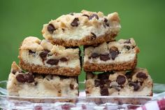Chocolate Chip Cookie Dough Cream Cheese Bars