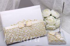 Wedding Memory Book gold, guestbook, summer wedding, Wedding gold, wedding book gold,personalized set, Trend wedding, summer wedding Gold by VIZZARA on Etsy