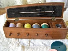 Vintage Sewing box by cynthiasattic on Etsy, $25.00
