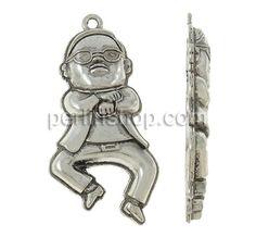 Charakterform Zinklegierung Anhänger, Junge, antik silberfarben plattiert, frei von Nickel, Blei & Kadmium, 29x59x6mm, Bohrung:ca. 3mm