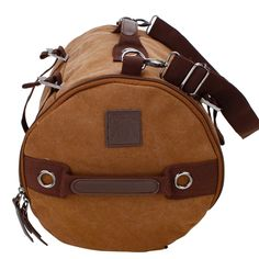 Kenuo Men Outdoor Backpack Canvas Bucket Travel Bag (Coffe) Consists of one external zip interlayer, one inner zip pouch, one inner compartment for laptop and one main body that will give you alternative choice to place your stuffs $32.99