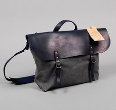 old school leather bag