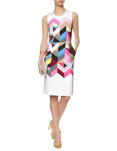 Multi Tile Pencil Issy Dress Preen by Thornton Bregazzi