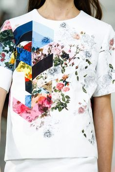 Today's #tbt is a great mixed-media print from Preen's Spring 2014 collection.