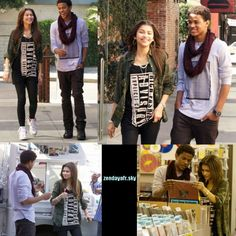 Zendaya se promenant a L.A avec Trevor Jackson - ♦ Suis toute l'actualité de la belle Zendaya !