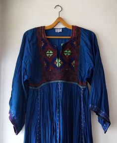 Vintage 60's Afghanistan Dress Hand made by DorisVintage on Etsy