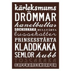 Svenska Kakor, Poster