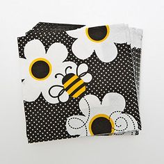 Busy Bees Beverage Napkins Century Novelty…