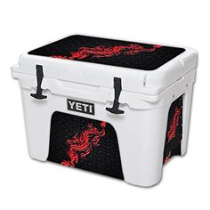 MightySkins Protective Vinyl Skin Decal for YETI Tundra 35 qt Cooler wrap cover sticker skins Red Dragon >>> Find out more about the great product at the image link.(This is an Amazon affiliate link and I receive a commission for the sales)