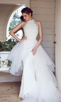 Gorgeous wedding dresses from the 2014 bridal collection of Aussie designer Karen Willis Holmes Australian Wedding Dress Designers, Australian Wedding Dresses, Wedding Dresses 2014, Cheap Wedding Dress, Designer Wedding Dresses, Wedding Attire, Bridal Dresses, Halter Dresses, Lace Wedding