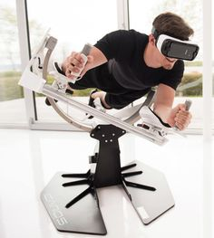 This VR Exercise Equipment Lets You Fly like an Eagle As soon as I saw this, the first thing to come to mind was Lawnmower Man!!!!