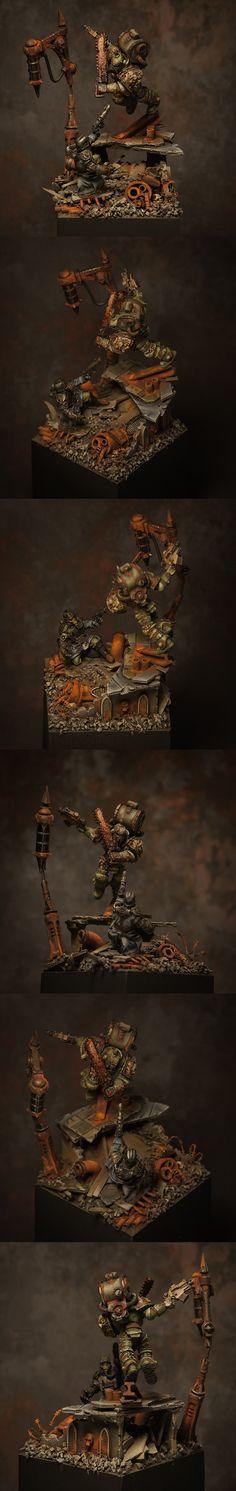 Nurgle vs Kreig Duel diorama