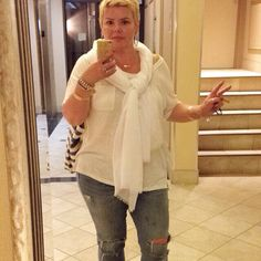 Casual Chic #ootd  Jeans and a T with scarf #summerstyle