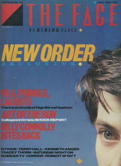 """- The Face Magazine """"New Order"""" cover by Neville Brody / July 1983 Terry Hall, Kenneth Anger, Neville Brody, The Face Magazine, Graphisches Design, Design Squad, Design Ideas, Book Design, Magazin Design"""