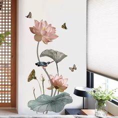 Lotus Flower Peel And Stick Wall Decals – the treasure thrift