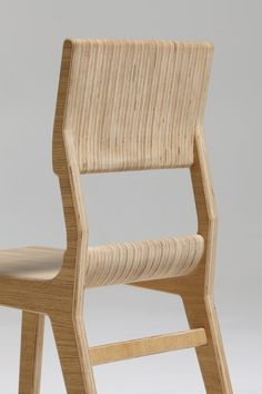M12 Plywood Dining Chair by KENNY VANDEN BERGHE made in Belgium on CROWDYHOUSE