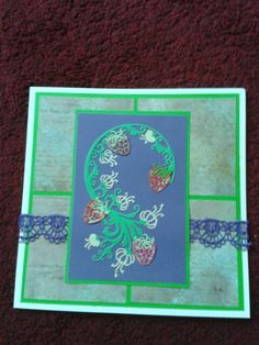 Tattered lace and Lilley of the Valley paper