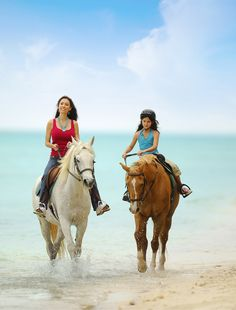 Ever wanted to go horseback riding along the surf? Nassau, Bahamas can be the backdrop.