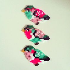 birds hama beads