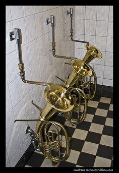 Some brassy toilets