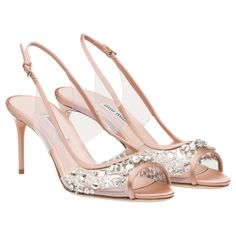 Miu Miu plexi crystal peep toes with sling-back
