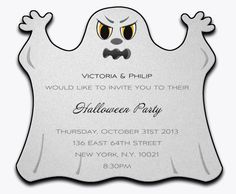 #halloween #ghost #invitation #einladung