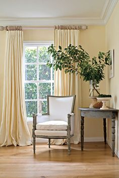 They used unfinished furnishings, untreated wool rugs, natural latex rug pads, organic-fill sofas, cotton slipcovers, linen draperies, hemp pillows, and mineral-based lime paint.