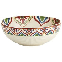 Global Medallion Serve Bowl - this is so very pretty and I can imagine how nice this would look on the dinner table.