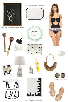 Comfy Cozy Couture| Black and White Favorites | #blackandwhite #homedecor #fashion