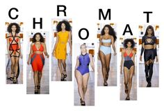 """""""chromat"""" by minimalmanhattan ❤ liked on Polyvore featuring CHROMAT, pvstyleinsider, pvnyfw and ss17"""