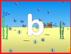 Letterbellen, letterherkenning op het digibord bij kleuters,  op kleuteridee