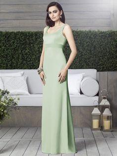 Dessy 2901 Dress Renaissance Satin Cutout Back Empire Waistline