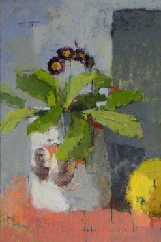 Jill+Barthorpe:+Auricula,+oil+on+canvas+