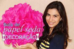 mais informações: http://julianaleiteg.blogspot.com.br/2014/01/diy-decoracao-com-bolas-de-papel-seda.html Esta bola de papel seda foi usada para decorar noss...