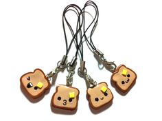 Cute Toast with Butter Polymer Clay Charm by MonkeySushi on Etsy, $6.00
