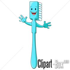Toothbrush clip art. This file contains 7 toothbrushes in color ...